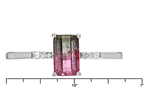 Pre-Owned Bi-Color Tourmaline Sterling Silver Ring 1.12ctw