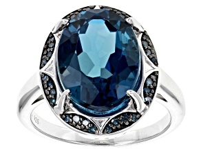 Pre-Owned London blue topaz sterling silver ring 6.33ctw
