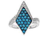 Pre-Owned Neon Apatite Sterling Silver Ring 1.23ctw