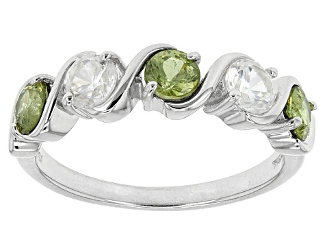 Pre-Owned Green Demanoid Sterling Silver Ring 1.45ctw