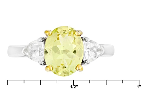 Pre-Owned Yellow Apatite Sterling Silver Ring 2.18ctw
