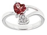 Pre-Owned Pink Rubellite Tourmaline Sterling Silver Ring .67ctw
