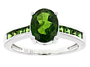Pre-Owned Green Chrome Diopside Sterling Silver Ring 2.02ctw