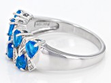 Pre-Owned Neon Blue Apatite Sterling Silver Ring 1.24ctw