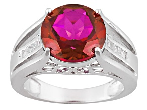 Pre-Owned Peony™ Mystic Topaz® Sterling Silver Ring 4.97ctw