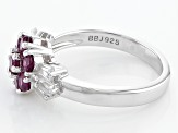 Pre-Owned Purple Rhodolite Sterling Silver Ring 1.25ctw