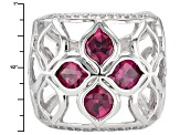 Pre-Owned Purple Rhodolite Sterling Silver Ring 3.95ctw