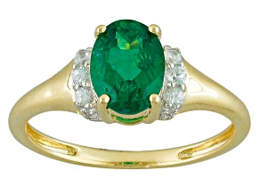 Pre-Owned Green Apatite 10k Yellow Gold Ring 1.22ctw