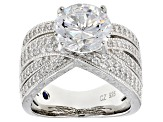 Pre-Owned White Cubic Zirconia Platineve Ring 7.68ctw