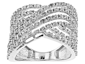 Pre-Owned Diamond Rhodium Over Sterling Silver Ring .63ctw