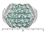 Pre-Owned Blue Aquamarine Sterling Silver Ring 2.52ctw