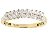 Pre-Owned White Diamond 10k Yellow Gold Ring .30ctw