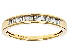 Pre-Owned white diamond 10k yellow gold ring .20ctw