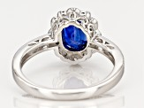 Pre-Owned Blue Kyanite rhodium over silver ring 2.15ctw