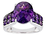 Pre-Owned Purple African Amethyst Sterling Silver Ring 4.98ctw