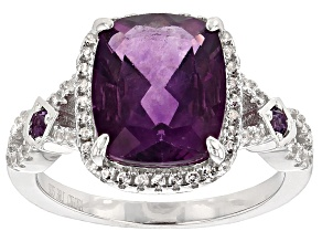 Pre-Owned Purple Fluorite Sterling Silver Ring 4.08ctw