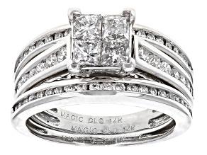Pre-Owned White Diamond 14k White Gold Bridal Set 1.50ctw