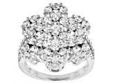 Pre-Owned Cubic Zirconia Rhodium Over Sterling Silver Ring 6.25ctw