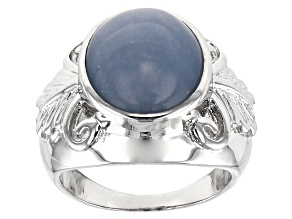 Pre-Owned Blue angelite sterling silver ring