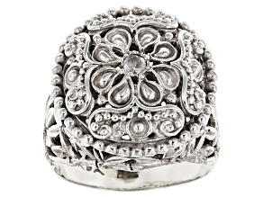Pre-Owned White Diamond Sterling Silver Solitaire Ring .06ct