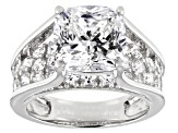 Pre-Owned Cubic Zirconia Silver Ring 9.91ctw
