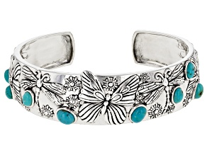 Pre-Owned Turquoise Silver Cuff Bracelet
