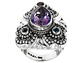 Pre-Owned Multicolor Mystic Quartz® Sterling Silver Ring 4.18ctw