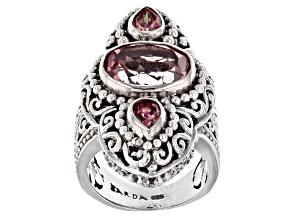 Pre-Owned Always True Rose™ Mystic Quartz® Silver Ring 4.15ctw