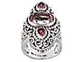 Pre-Owned Always True Rose™ Mystic Quartz® Silver Ring 4.15ctw