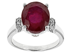 Pre-Owned Mahaleo Ruby Sterling Silver Ring 6.50ctw