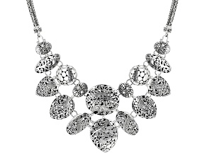 Pre-Owned Sterling Silver Statement Necklace