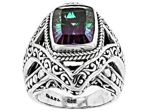 Pre-Owned Bi-Color Quartz Triplet Sterling Silver Ring
