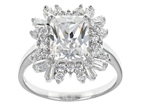 Pre-Owned Cubic Zirconia Silver Ring 5.28ctw