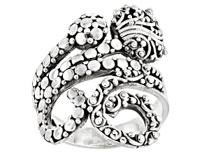 Pre-Owned Sterling Silver Filigree Swirl Ring