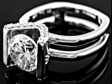 Pre-Owned Cubic Zirconia Rhodium Over Silver Ring 3.60ctw