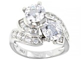 Pre-Owned Bella Luce 5.55ctw Round, Tapered Baguette White Cz .925 Sterling Silver Ring