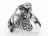 Pre-Owned White Mother Of Pearl Elephant Ring