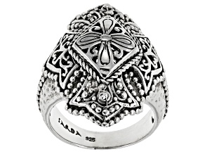 Pre-Owned Sterling Silver Coat Of Arms Ring