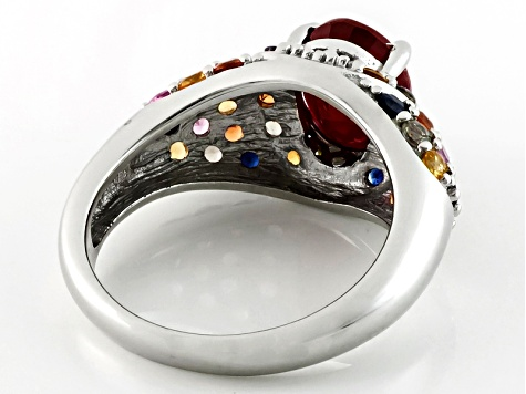 Pre-Owned Mahaleo Ruby Sterling Silver Ring 4.44ctw