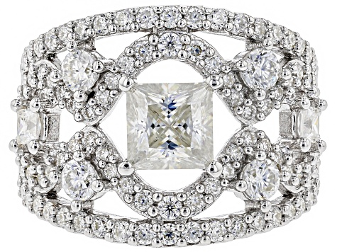 Pre-Owned Moissanite Platineve Ring 3.16ctw D.E.W