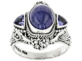 Pre-Owned Blue Tanzanite Sterling Silver Ring .30ctw