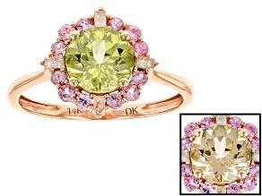 Pre-Owned Green Turkish Diaspore 14k Rose Gold Ring 1.13ctw