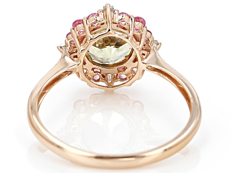 Pre-Owned Green Turkish Diaspore 14k Rose Gold Ring 1.13ctw