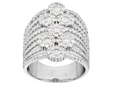 Pre-Owned Cubic Zirconia Rhodium Over Sterling Silver Ring 3.27ctw