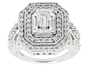 Pre-Owned Cubic Zirconia Silver Ring 4.71ctw (2.79ctw DEW)