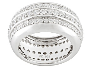 Pre-Owned Cubic Zirconia Silver Band 4.08ctw (2.34ctw DEW)