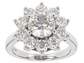Pre-Owned Moissanite Platineve Ring 3.50ctw Dew