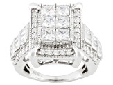 Pre-Owned Cubic Zirconia Silver Ring 4.99ctw (3.33ctw DEW)