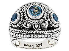 Pre-Owned Rio Aqua™ Mystic Topaz® Silver Ring 1.15ctw