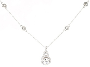 Pre-Owned Cubic Zirconia Round Platineve Necklace 2.91ctw